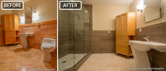 Miami bathroom remodel before and after